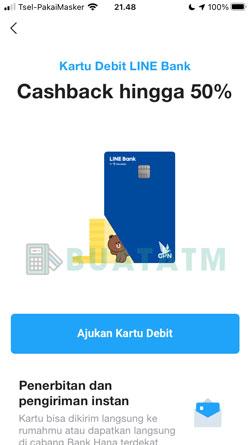 4 Klik Ajukan Kartu Debit
