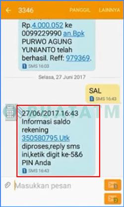 7 Masukkan PIN SMS Banking BNI