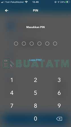 8 Masukkan PIN BRImo