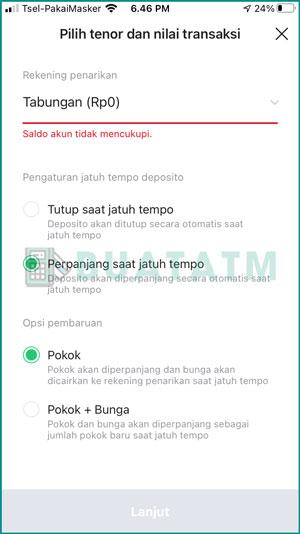 Atur Jaatuh Tempo Deposito