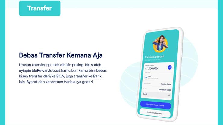 Cara Transfer Blu BCA