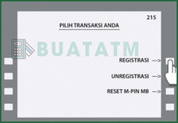 2 Pilih Registrasi