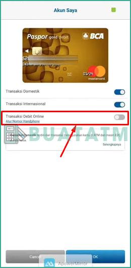 5 Aktifkan Transaksi Debit Online