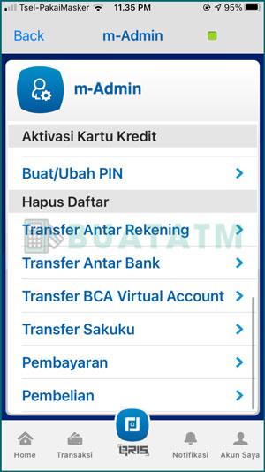 5 Pilih Hapus Daftar Transfer
