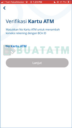 6 Masukkan Nomor Kartu ATM