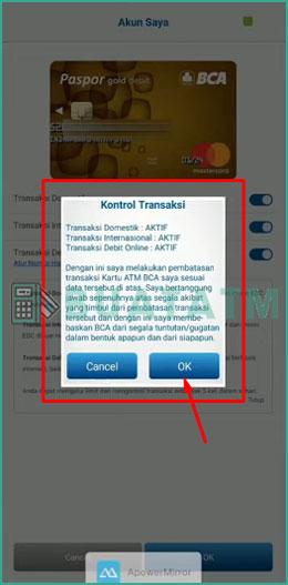 8 Konfirmasi Kontrol Transaksi