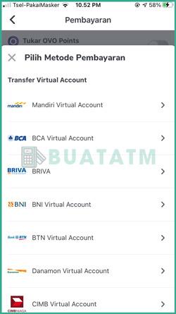 Pilih Mandiri Virtual Account