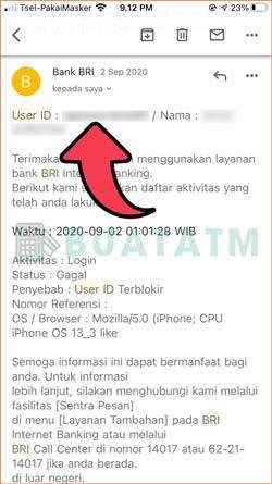 User ID Terlihat