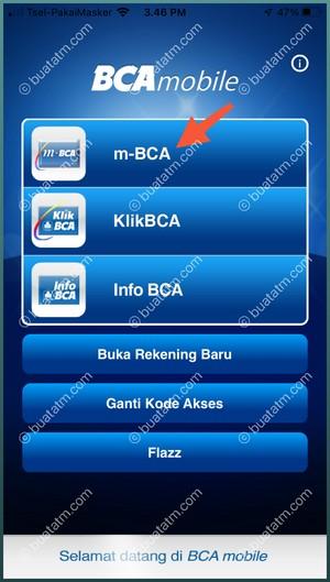2 pilih menu M-BCA