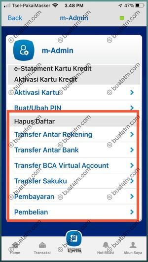 5 Pilih Daftar Transaksi