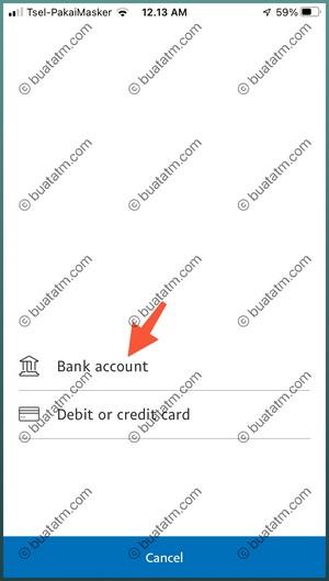 6 Pilih Bank Account