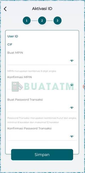 8 Lengkapi MPIN & Password