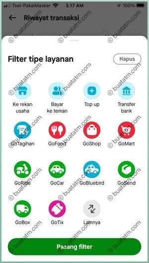 Filter Jenis Layanan