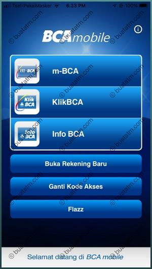 1 Pilih Menu m-BCA